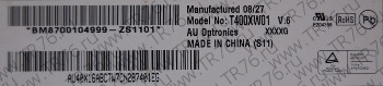 матрица T400XW01 V.6