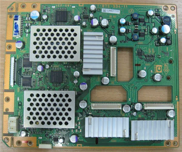 Board Sony 1-870-334-11 (A1186651A) от телевизора Sony KDS-55A2000