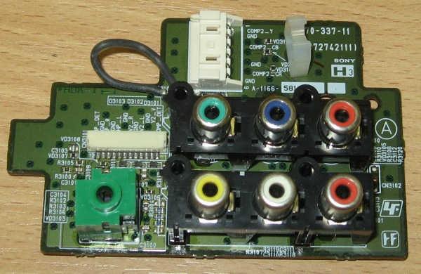 Audio /Video Input /Output Board 1-870-337-11 (плата с разъемами) от телевизора Sony KDS-55A2000