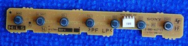 Button Board 1-880-417-11 (1-731-166-11) от телевизора Sony KLV-22BX301, KLV-26BX300