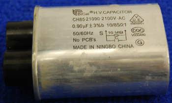 Конденсатор 0.9mF 2100V AC высоковольтный для СВЧ