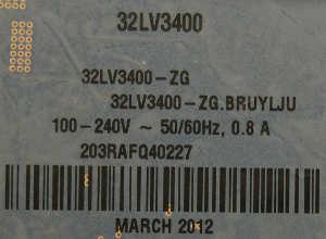 LG 32LV3400
