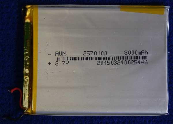 Аккумулятор 3570100 (100mmX70mmX3.5mm) 3000 mAh от планшета Oysters T72HA 3G