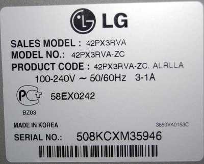 LG 42PX3RVA-ZC
