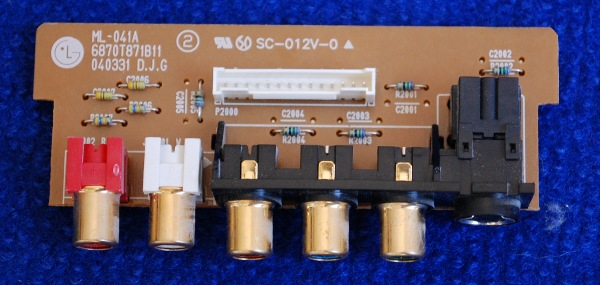 Side AV Input Board ML-041A 6870T871B11 от телевизора LG RZ-23LZ50