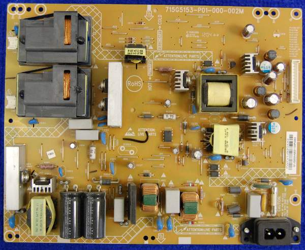 Power Supply Board 715G5153-P01-000-002M от телевизора Philips 42PFL3007H/60 TMP9.1E LA