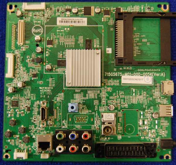 Main Board 715G5675-M01-000-005K (Ver:A) 006LP0453347A от телевизора Philips 42PFL3008T/60