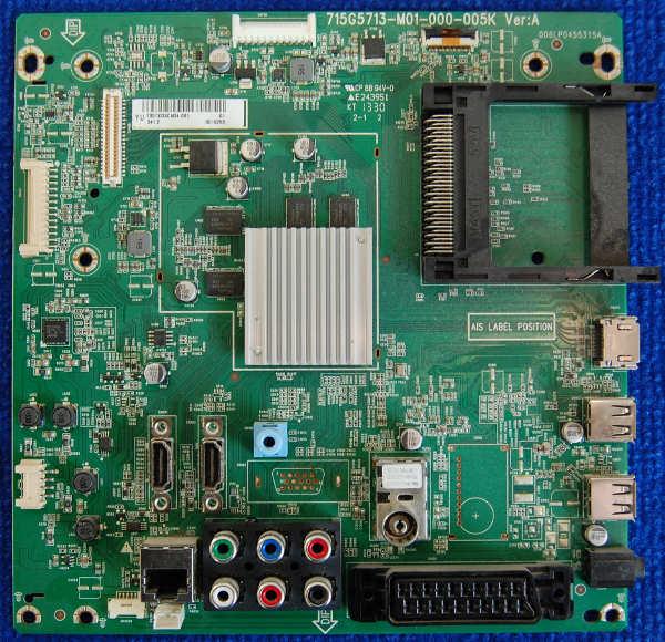 Main Board 715G5713-M01-000-005K от телевизора Philips 50PFL5008T/60