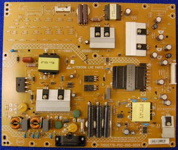 Power Supply Board 715G5778-P02-000-002R от телевизора Philips 42PFL3008T/60