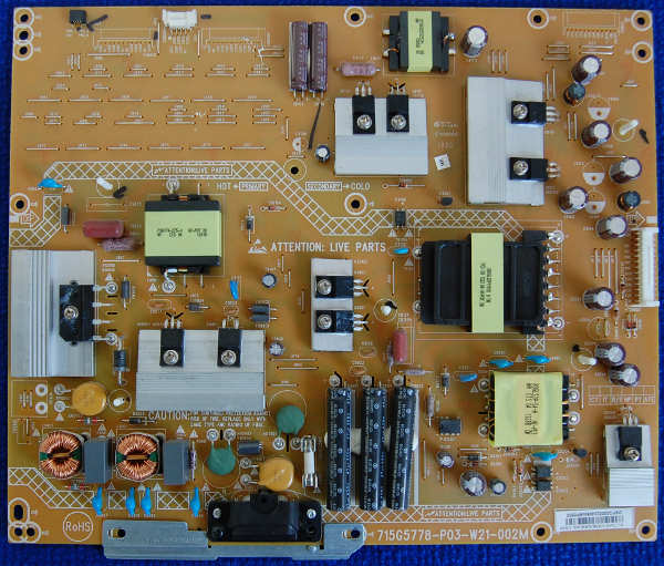 Power Supply Board 715G5778-P03-W21-002M от телевизора Philips 50PFL5008T/60