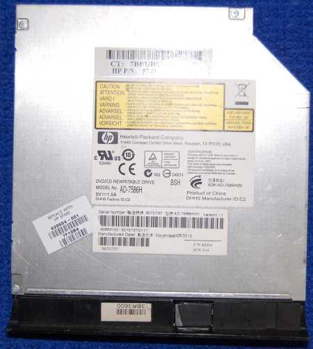 DVD-RW Drive AD-7586H от ноутбука HP g6-2254sr