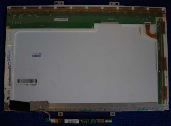 Дисплей B154EW04 V.2 с инвертором от ноутбука б/у