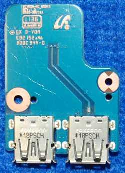 Плата с разъемами USB BA92-08701A от ноутбука Samsung NP-RC530