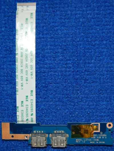 Плата с разъемами BA92-10598A LOTUS-13CML от ноутбука Samsung NP535U3C