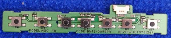 Button Board BN41-00989A от телевизора Samsung LE26A451C1