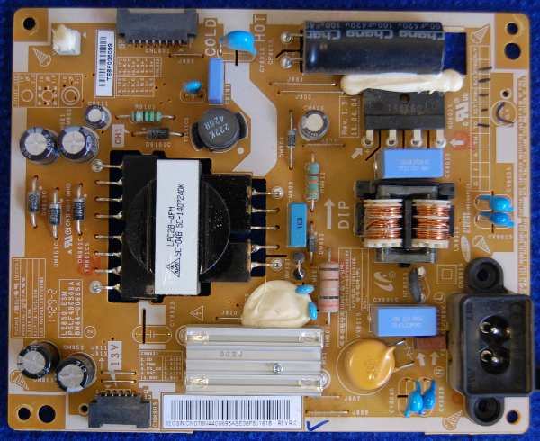 Power Supply Board BN44-00695A от телевизора Samsung T28D310EX (LT28D310)