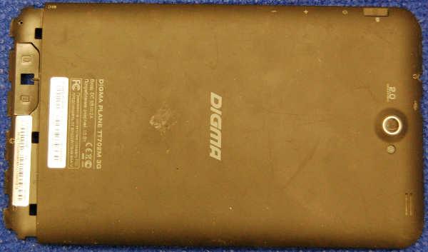 Задняя крышка корпуса от планшета Digma Plane 7'' TT702M 3G