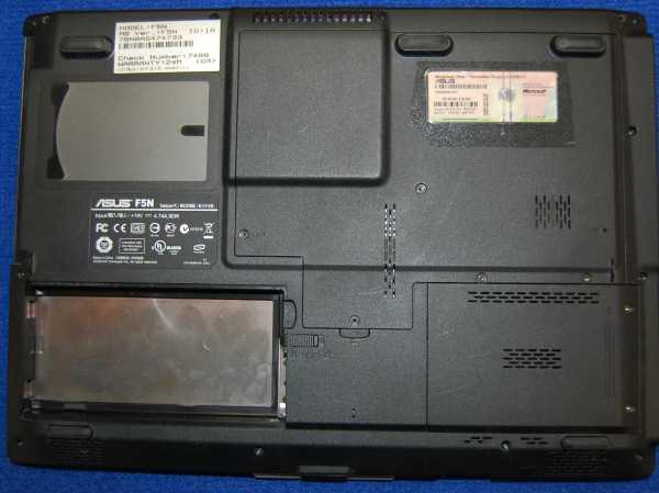 Нижняя часть корпуса с тачпадом, динамиками от ноутбука