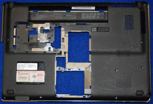 Корпус (нижняя часть) от ноутбука HP dv6-2112er