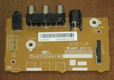 AV Input board DUNTKE491WE (Плата аудио входов) от телевизора SHARP LC-32D44RU-BK