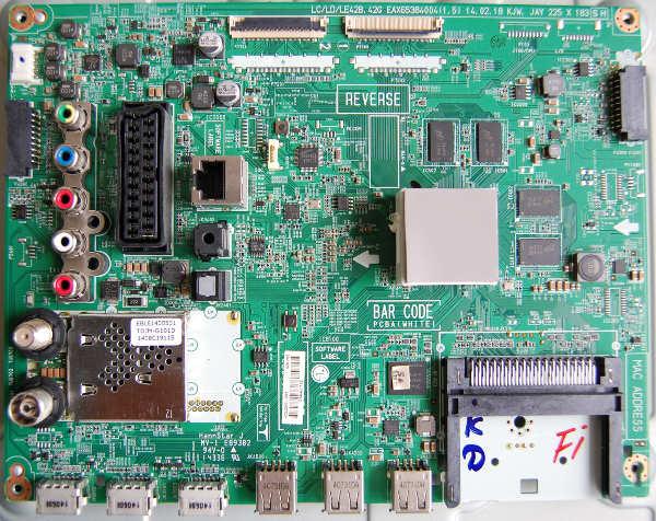Main Board EAX65384004 (1.5) от телевизора LG 42LB652V-ZA
