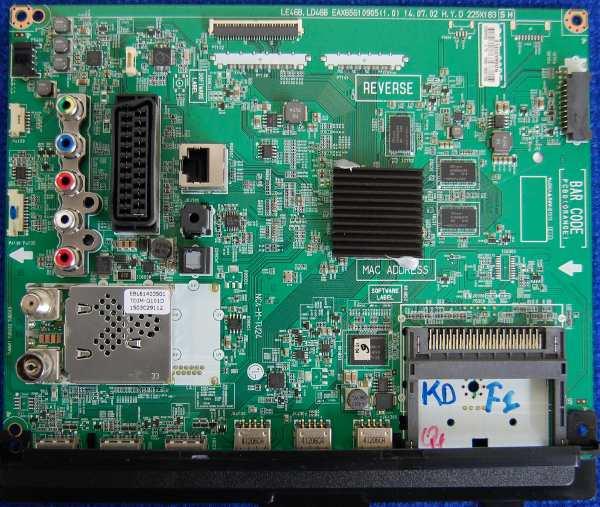 Main Board EAX65610905 (1.0) от телевизора LG 32LF580U-ZA