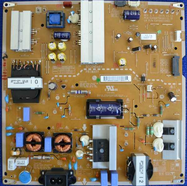 Power Supply Board EAX66796301 (1.7) от LG 65UH676V