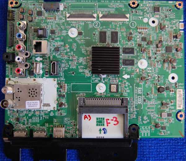 Main Board EAX66804605 (1.1) от телевизора LG 43UH671V