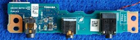 Audioboard FUHJK2 A5A001827010 от ноутбука Toshiba
