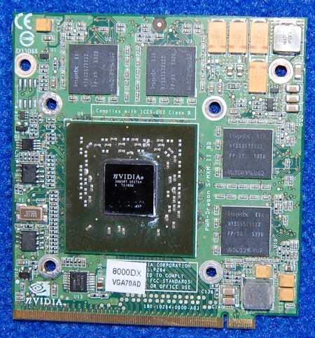 Видеокарта NVIDIA GO6600 120Mb PCI-Express от ноутбука iMango 8000DX