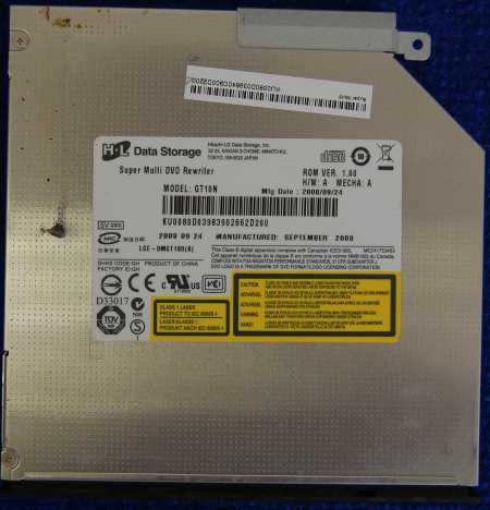 DVD Rewriter GT10N от ноутбука eMachines D620