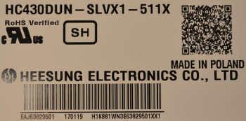 LCD HC430DUN-SLVX1-511X