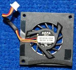 Вентилятор Sepa HY45Q-05A DC5V 0.19A от нетбука ASUS Eee PC 900