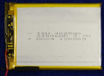 Аккумулятор 406590 (90mmX65mmX4mm) 2100 mAh 3,7V от планшета