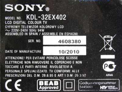 Sony KDL-32EX402