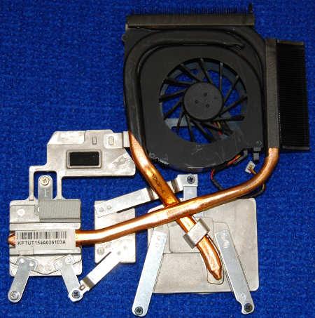 Система охлаждения с вентилятором Kipo055613R1S от ноутбука HP dv6-2112er