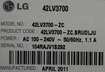 LG 42LV3700-ZC