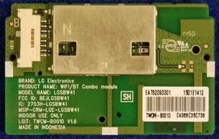 Wi-Fi/ Bluetooth Combo Module EAT62093301 (LGSBW41) от телевизора LG