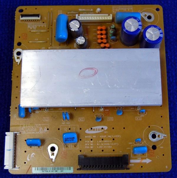 X-Main Board LJ41-08591A (LJ92-01736A) от телевизора Samsung PS42C433A4W