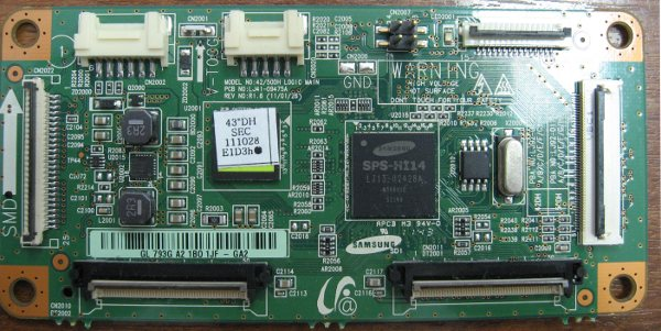 Main Logic CTRL Board LJ41-09475A (LJ92-01750A) от телевизора Samsung PS51D452A5W