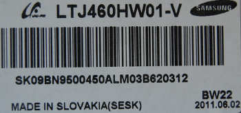 матрица LTJ460HW01-V