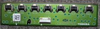 Button Board PE0406A-3 V28A000527A3 от Toshiba 40XF350PR