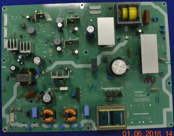 Power Supply Board PE0643A V28A00083901 от Toshiba 42AV500PR