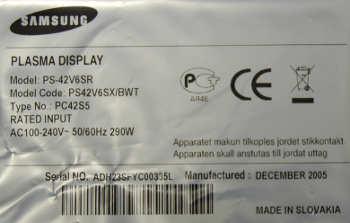 Samsung PS-42V6SR