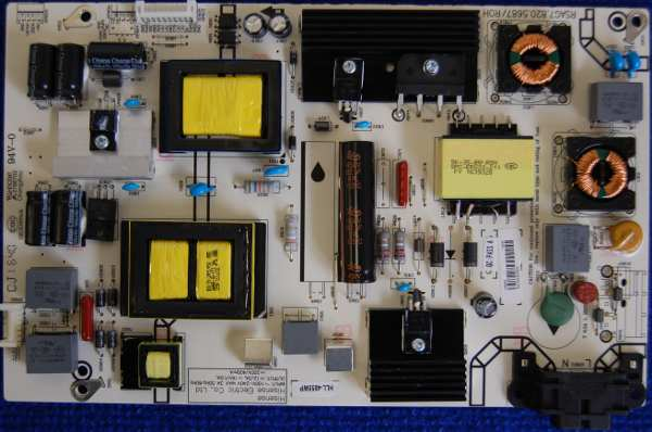 Power Supply Board RSAG7.820.5687/ROH HLL-4855WP от телевизора DEXP F49C8000H