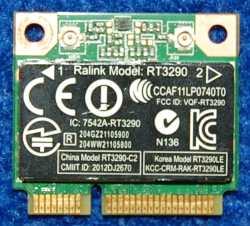 Wi-Fi/Bluetooth Module RT3290LE Ralink от ноутбука HP g6-2254sr