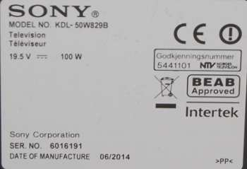 Sony KDL-50W829B
