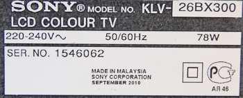 телевизор Sony KLV-26BX300