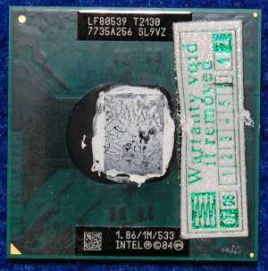 Процессор Intel Pentium LF80539 T2130 1,86GHz, б/у