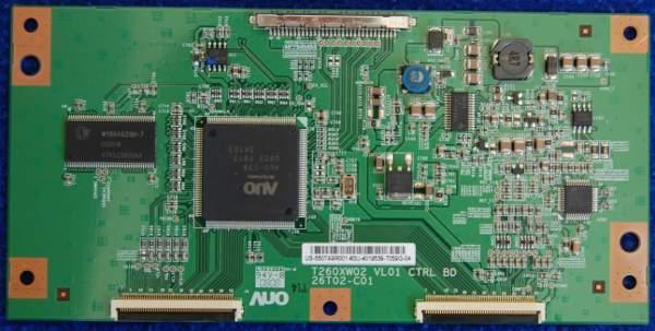 T-Con Board T260XW02 VL01 26T02-C01  от телевизора Samsung LE26A451C1